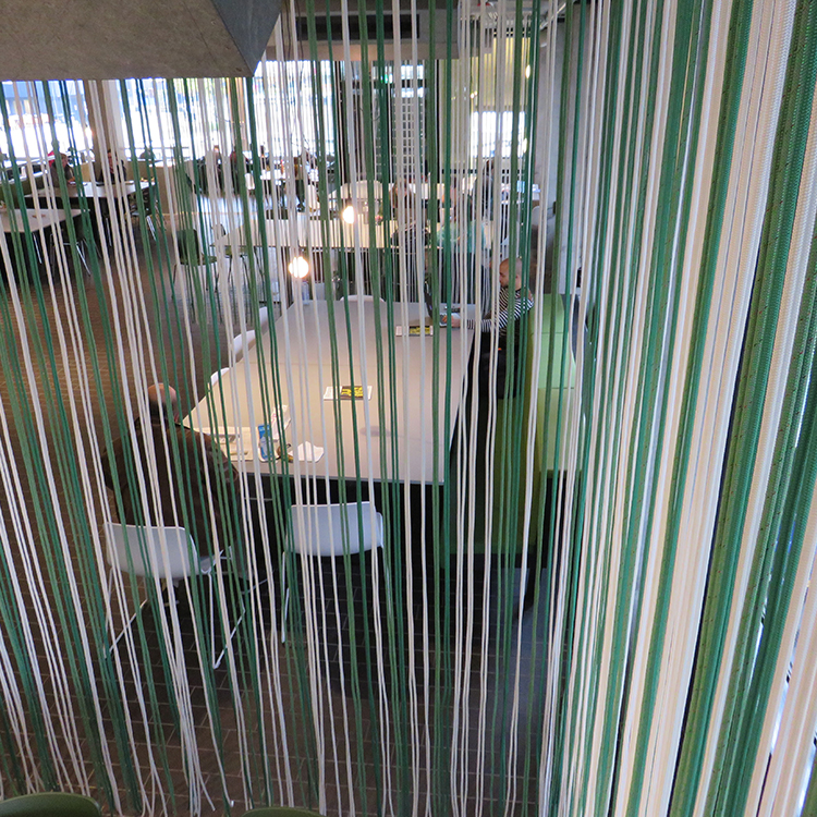 Art projects - curtain of ropes