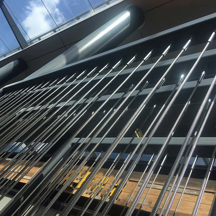 Architecture: stainless steel wire construction