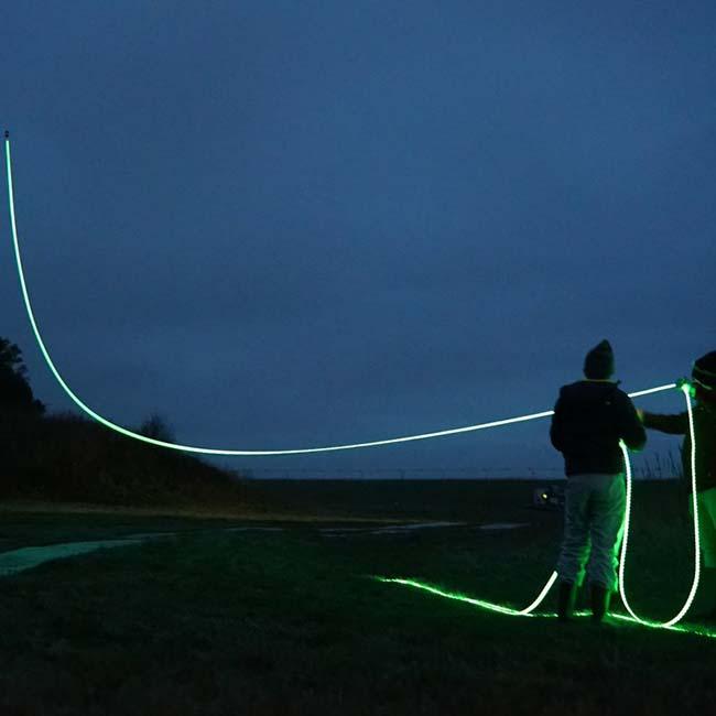 Art projects: Kunstprojekt - Studio Roosegaarde - Seile für Drachen